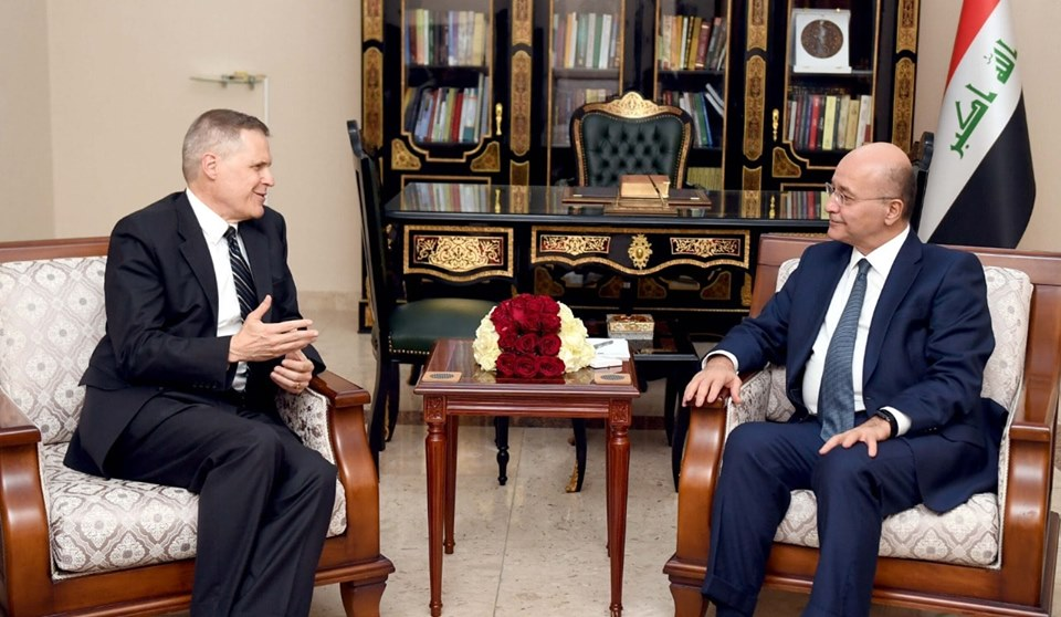 رئيس الجمهورية يلتقي بسفيري ايران واميركا لبحث التوتر في المياه الدولية