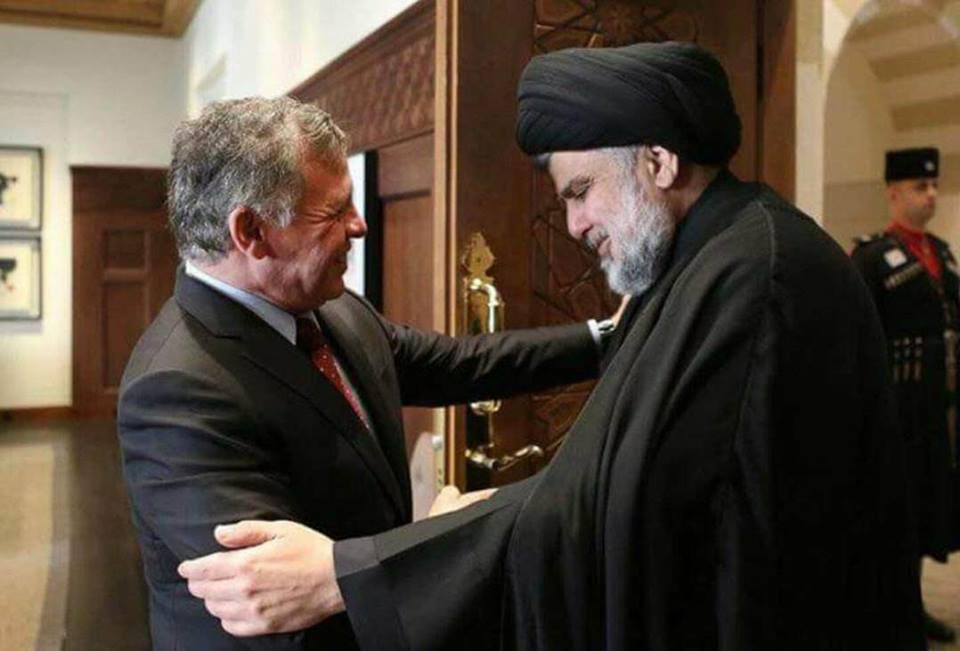 (بالصورة) العاهل الأردني يستقبل الزعيم الصدري في عمان