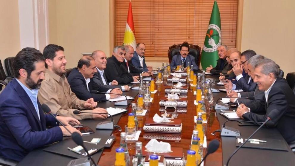 لجنة رفيعة من الوطني الكردستاني للتفاوض مع الديمقراطي