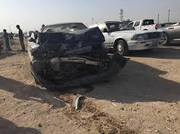 مصرع واصابة ٦ اشخاص بحادث سير على طريق بغداد كركوك بالقرب من ناحية العظيم