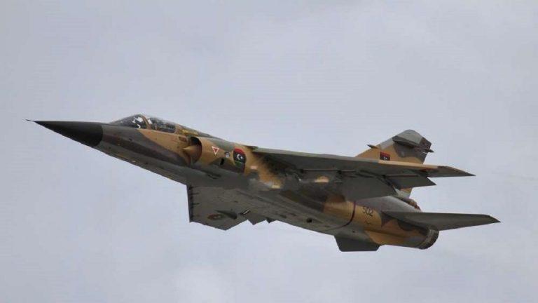 سقوط طائرة حربية للجيش الليبي جنوب طرابلس