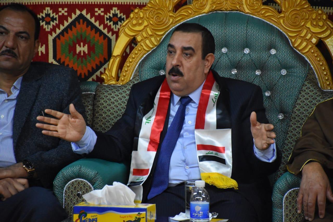 محافظ الانبار يهنىء الشعب والقوات الأمنية بيوم النصر على الإرهاب وتحرير العراق من العصابات الاجرامية