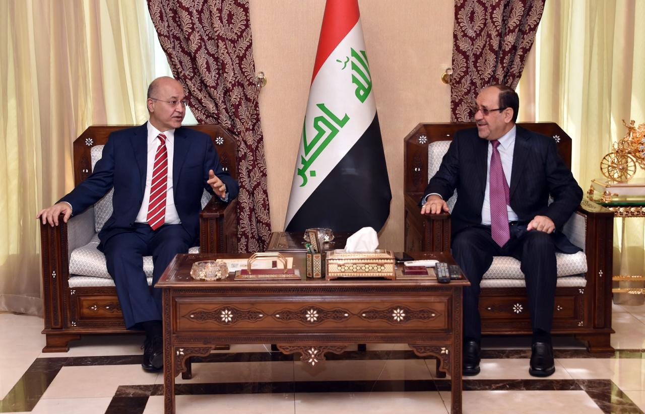Saleh discusses with Maliki the need to establish balanced relations with Iraq with the Arab environment Image