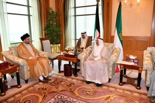 الحكيم يلتقي امير الكويت ويؤكد : العراقيون جادون في تشكيل حكومة خدمة