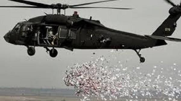 القوة الجوية تلقي آلاف المنشورات على مناطق تواجد داعش