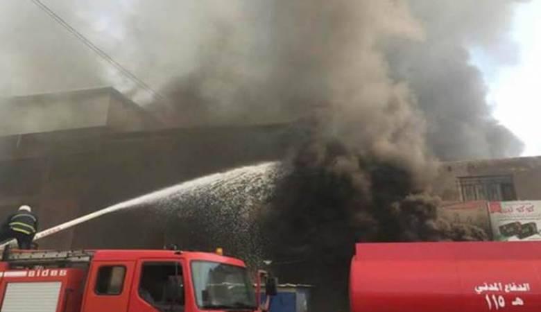 الدفاع المدني يسيطر على حريق نشب داخل بناية بمنطقة الصليخ شمالي بغداد