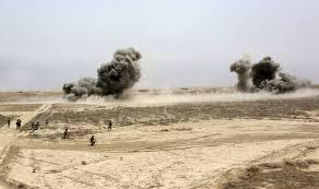 تدمير اربع عجلات لعصابات داعش الارهابية غرب قضاء تلعفر