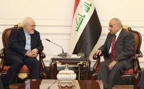 عبد المهدي يبحث مع ظريف تجنيب المنطقة تداعيات التصعيد الاميركي الايراني