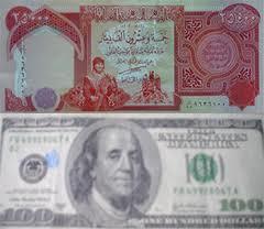 Iraqi dinar, US dollar