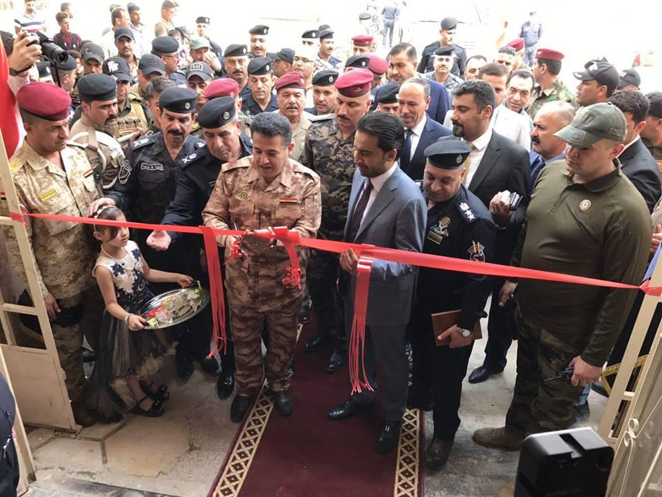 (بالصور) وزير الداخلية يفتتح مبنى الجوازات في الانبار
