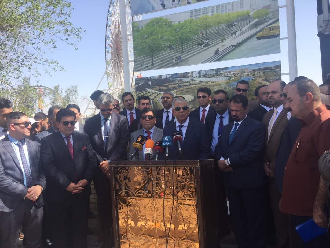 البصرة: وضع حجر الأساس لمشروع تطوير نهر العشار والبنى التحتية فيه