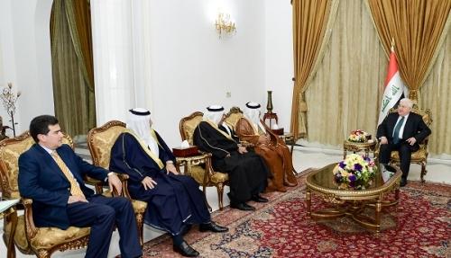 رئيس الجمهورية يؤكد ضرورة انهاء معاناة أبناء الانبار وتعويض المتضررين