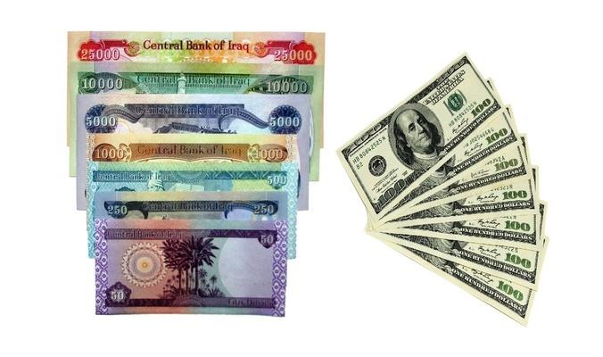 استقرار سعر الدولار مقابل الدينار العراقي