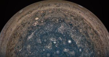 """""""ناسا"""" تظهر صورة دقيقة لكوكب المشترى أظهرت قطبه الجنوبى"""