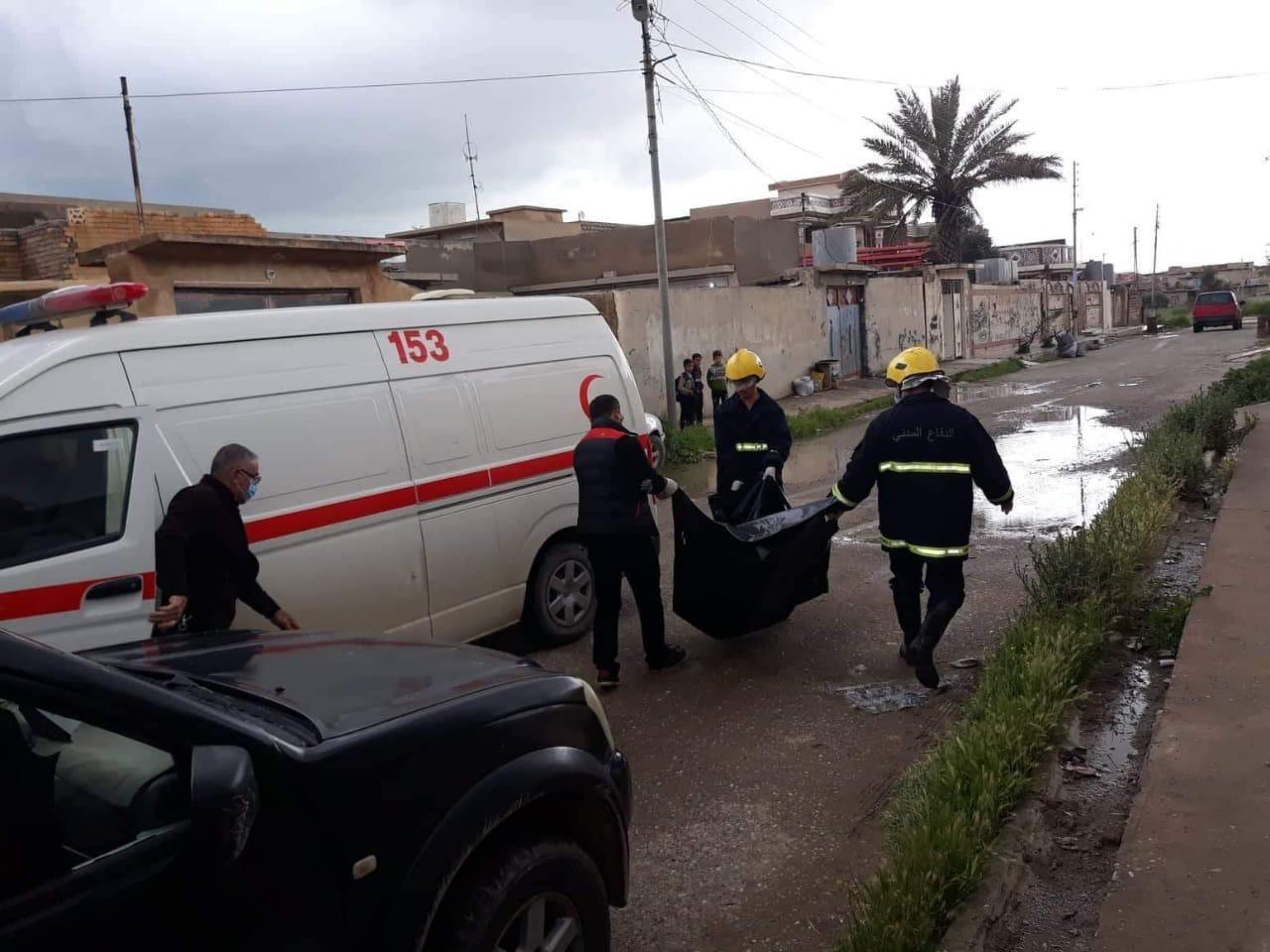 الدفاع المدني: انتشال جثتين مجهولتي الهوية في نينوى