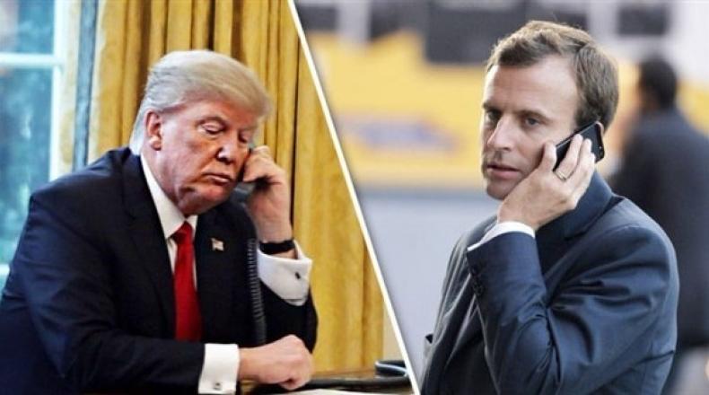 ترامب وماكرون يبحثان الأوضاع في إيران والشرق الأوسط