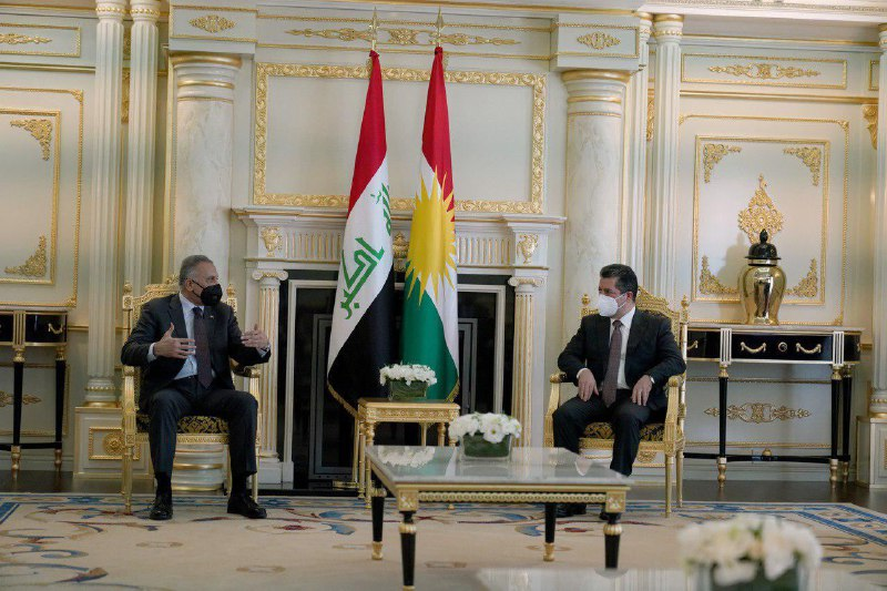 Al-Kazemi to the President of the Kurdistan government - The sovereignty of Iraq is what unites us and there is no room for abandoning it