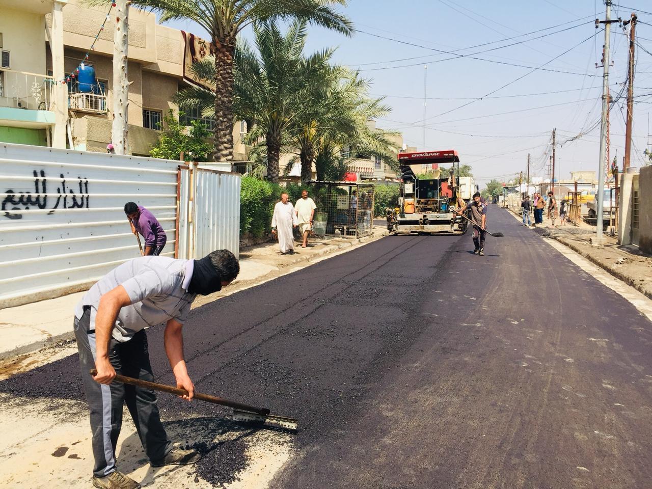 تطوير 14 شارعا مهما في منطقة الامين ببغداد