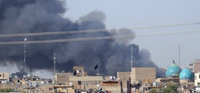 اندلاع حريق داخل محال تجارية جنوبي بغداد