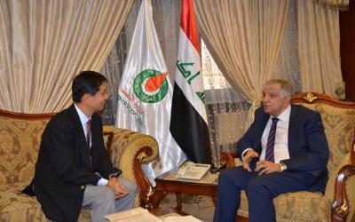"""وزير النفط يدعو """"ميتسوبيشي"""" اليابانية للدخول بقوة في مشاريع النفط والغاز"""