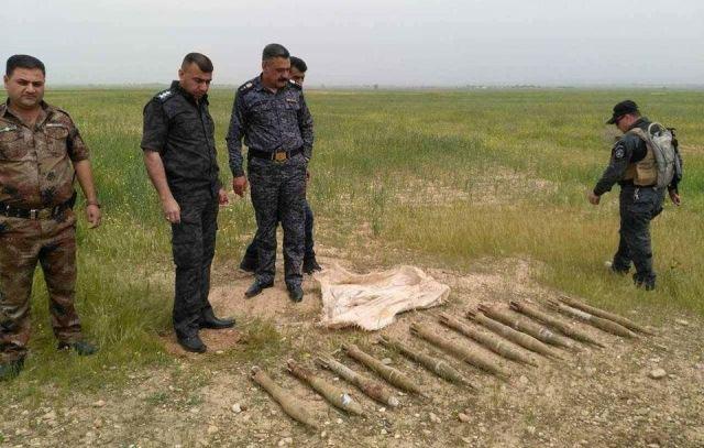 العثور على كدس صواريخ قاذفة في اطراف قضاء خانقين شمال شرق بعقوبة