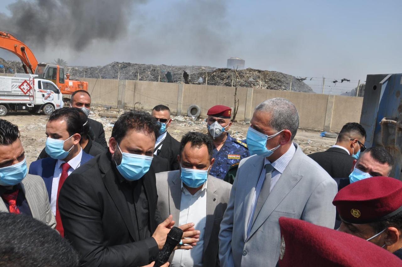الكعبي والغانمي يدعوان لدعم الحملات الخدمية وتعفير مناطق بغداد