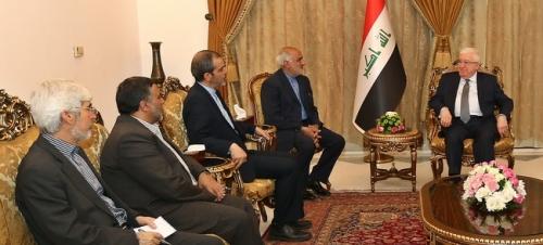 معصوم يؤكد أهمية تعزيز العلاقات العراقية الايرانية وتطويرها في الميادين كافة