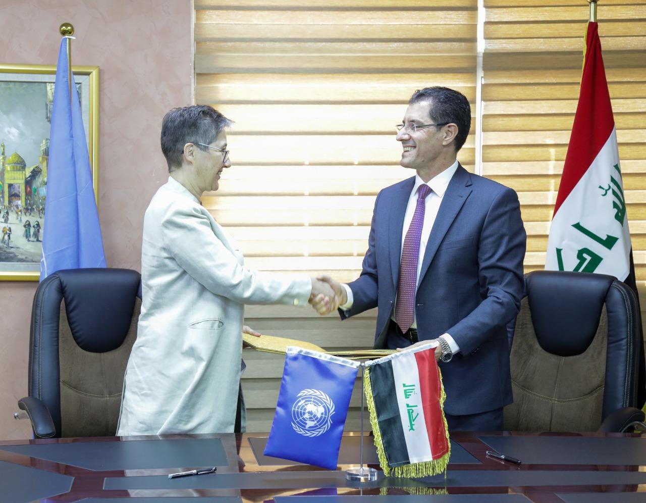العراق يوقع مذكرة تفاهم مع الأمم المتحدة حول الصندوق الائتماني لإعمار المناطق المحررة