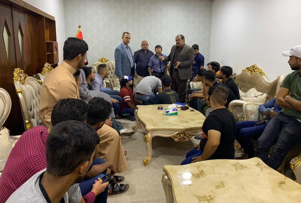 حزب الحل يدعم شباب ديالى ويستمع لأفكارهم