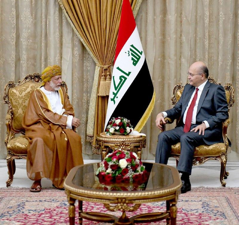 صالح يستقبل بن علوي ويؤكد: بغداد ومسقط بامكانهما أن يلعبا دوراً مهماً في استقرار المنطقة