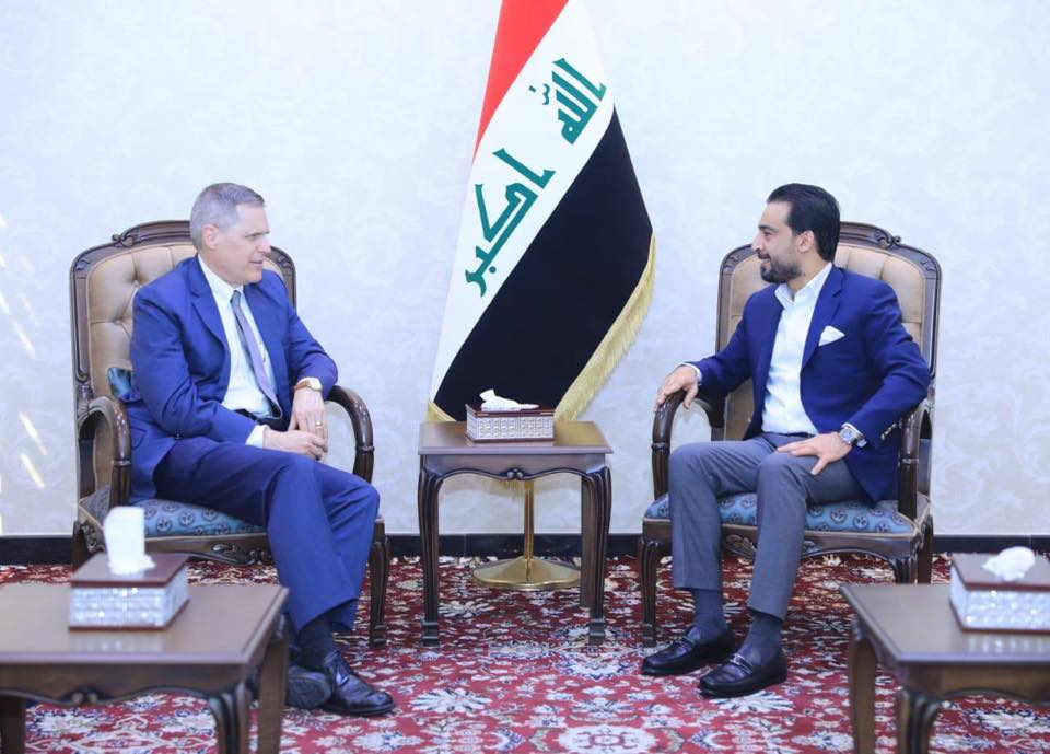 الحلبوسي يبحث مع السفير الاميركي العلاقات بين بغداد وواشنطن والتطورات الدولية
