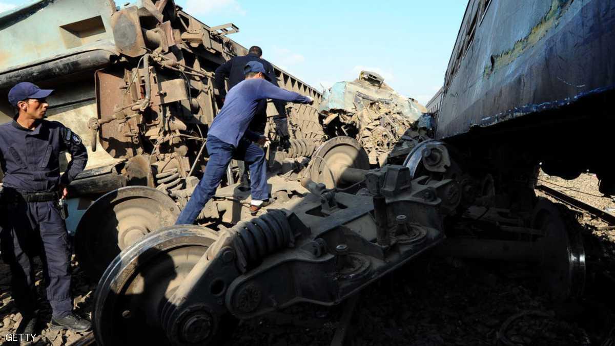 اصطدام قطارين شرق مدينة الأسكندرية يودي بحياة 40 قتيلا وعشرات الجرحى