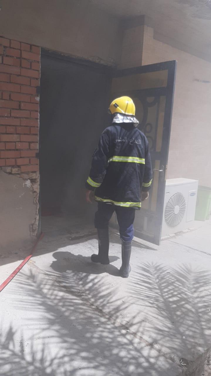 نشوب حريق داخل مخزن الاحصاء في مستشفى صلاح الدين