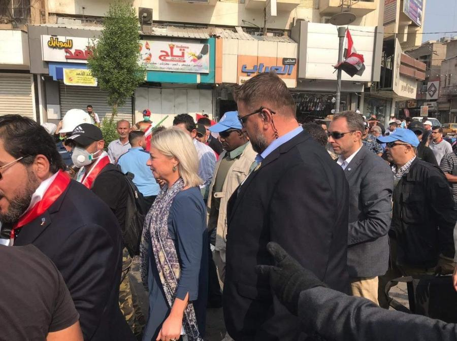 The United Nations representative in Tahrir Square Image