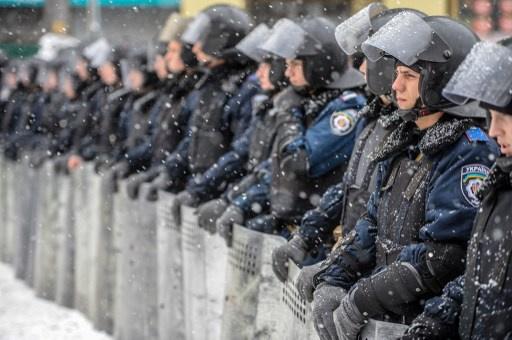 انتشار أمني وسط كييف قبيل انطلاق مظاهرات أنصار الحكومة