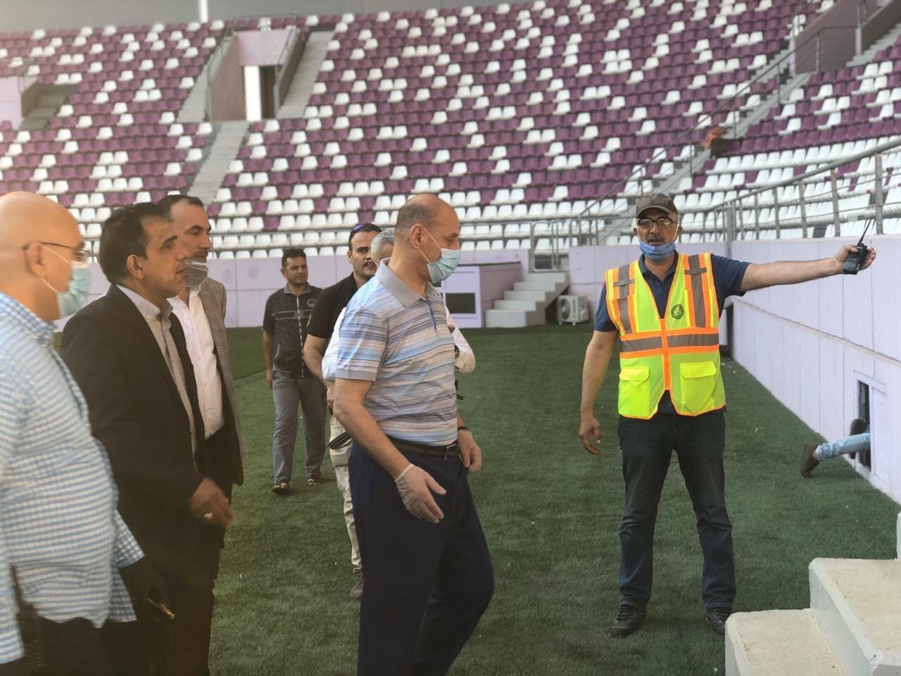 وزير الشباب يكشف عن اخر تفاصل العمل بملعبي الزوراء والشهداء