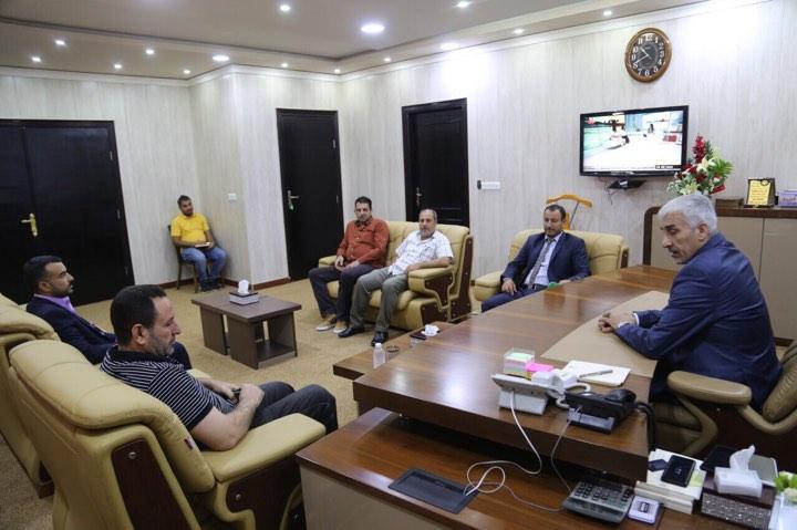 وزير الشباب يلتقي وفد ناديين من الانبار لبحث تقديم التسهيلات الادارية