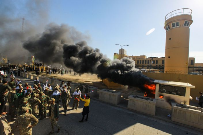 Source: The Iraqi authorities did not respond to the request of the American embassy to fully protect it Image