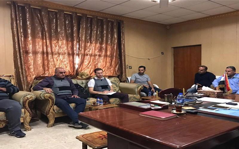 وصول وفد من الأمم المتحدة إلى مدينة الفلوجة للاطلاع على المشاريع التي تم إنجازها