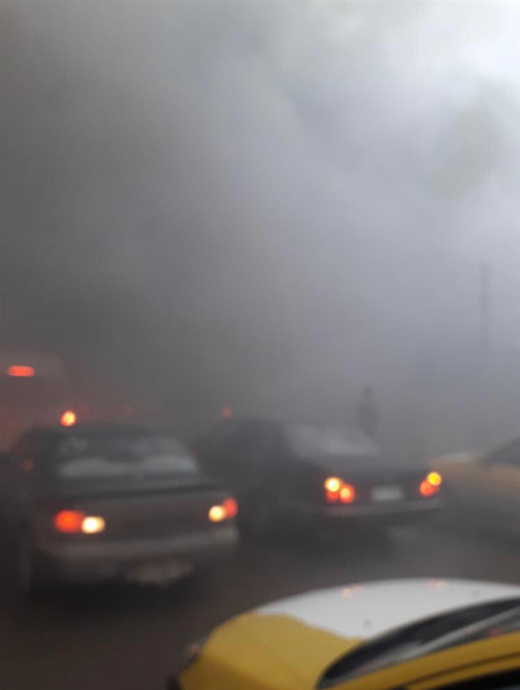 حريق ضخم شمال العاصمة بغداد