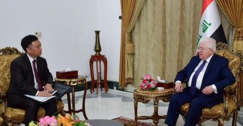 الرئيس معصوم يبلغ السفير الصيني موقفه من الاستفتاء
