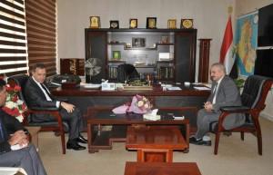 العقابي يلتقي السفير التركي لمناقشة افتتاح منفذي فيشخابور وافاكوي