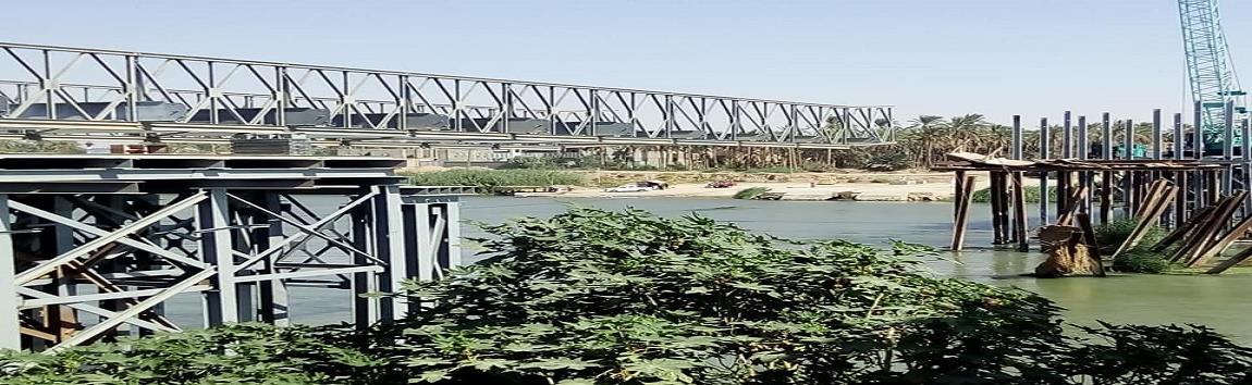 جسر متضرر يعود للخدمة بعد 14 عاماً في الانبار