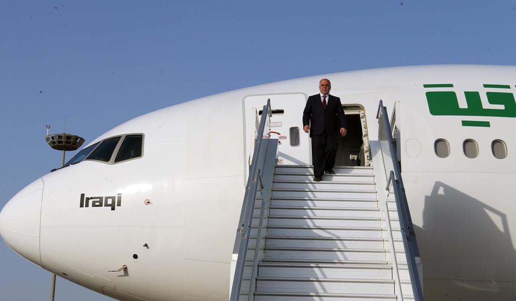 العبادي يعود الى بغداد بعد اختتام جولته الإقليمية