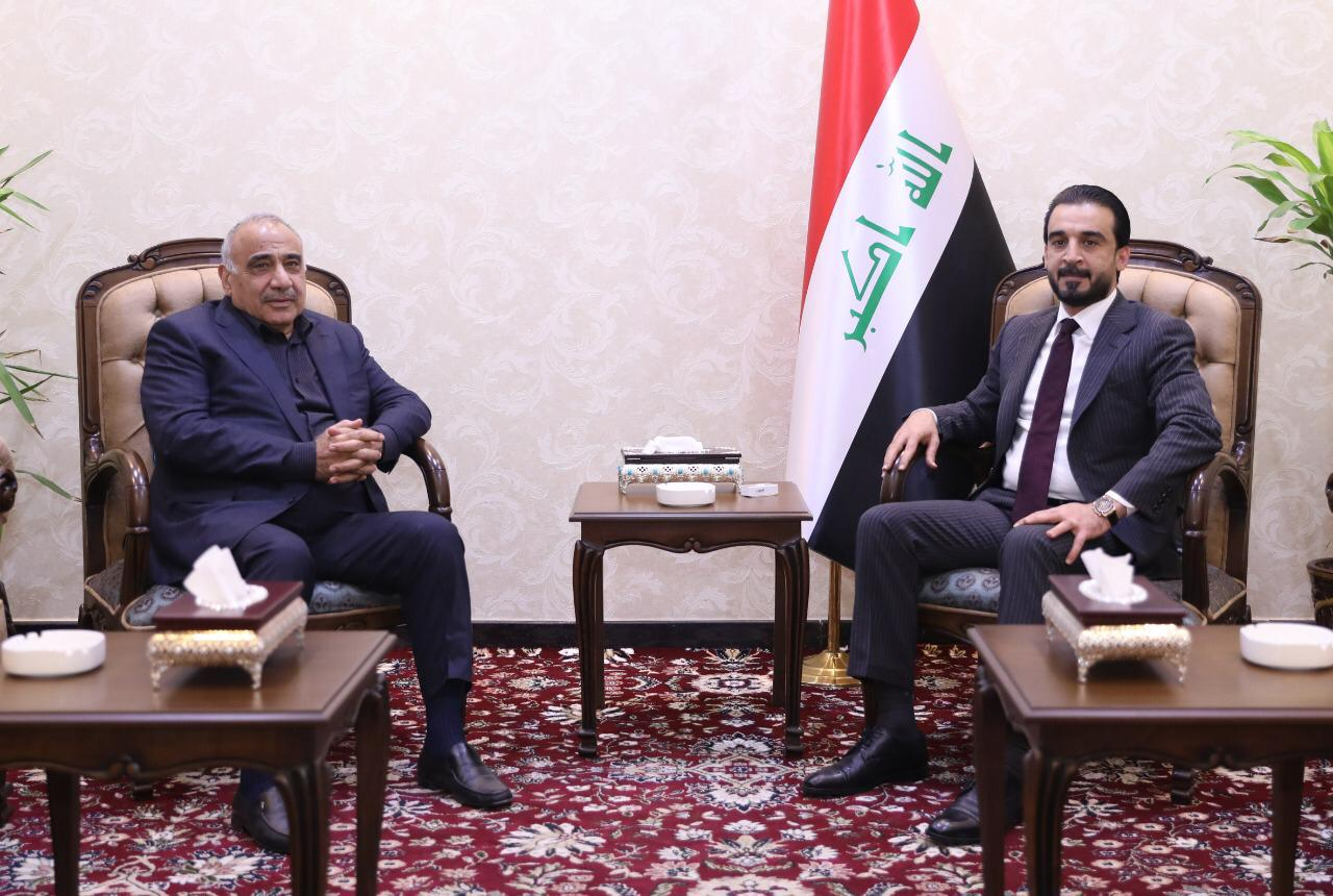 Parliament Speaker receives Abdul Mahdi .. This is what he discussed regarding the rest of the ministers and the federal budget Image