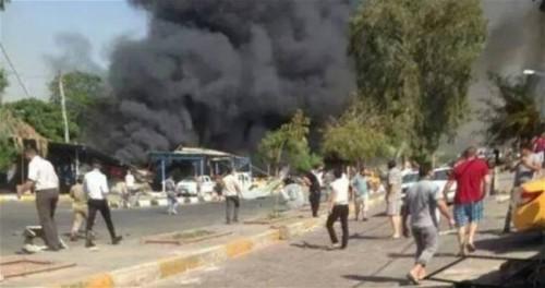 """""""بالفيديو """" اللحظات الأولى للتفجير الانتحاري في الكاظمية"""