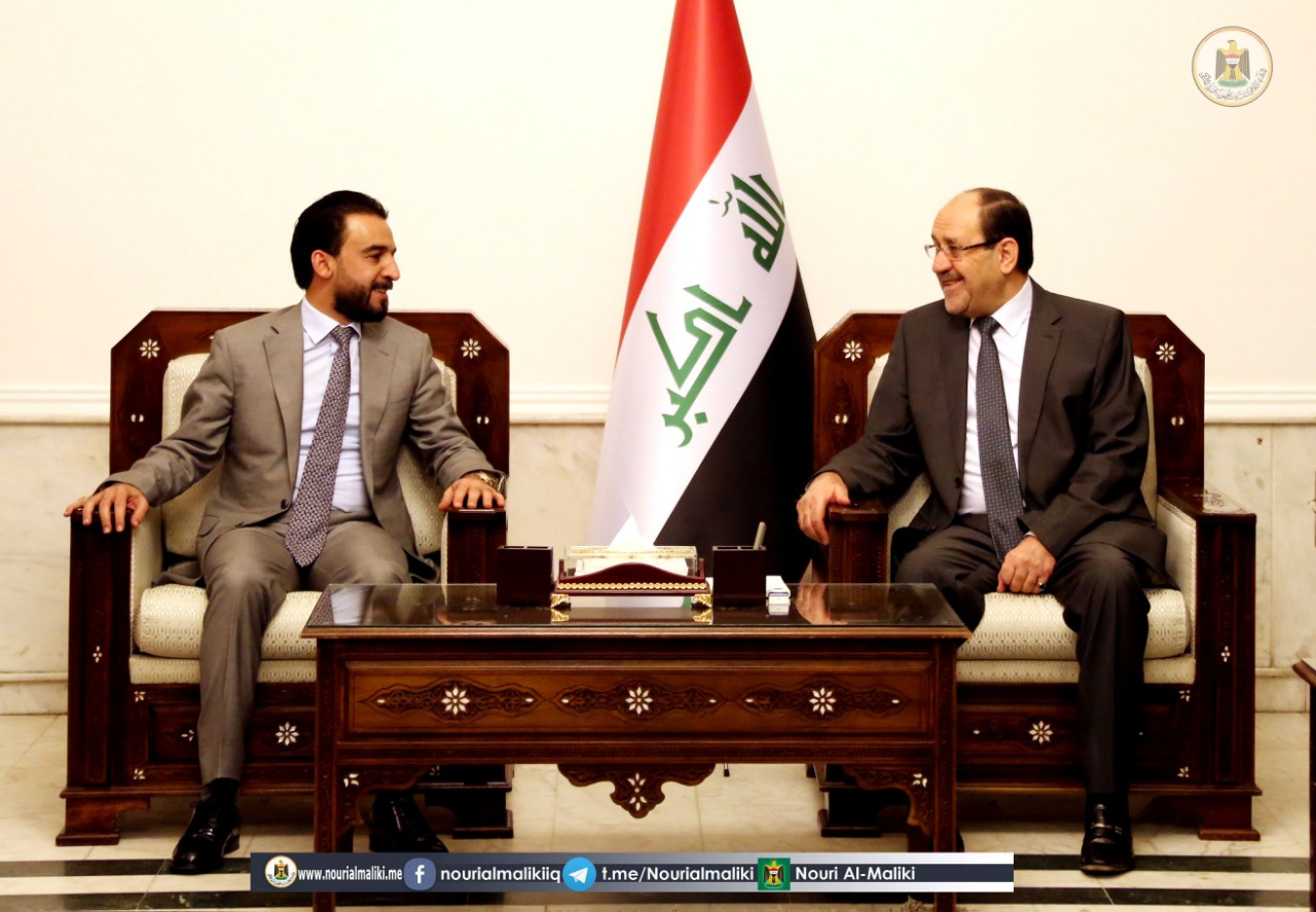 Maliki receives Speaker of the House of Representatives Mohamed Halboussi Image