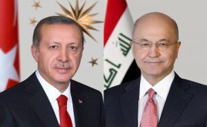 أردوغان يؤكد لصالح ضرورة ابعاد أرض العراق عن الصراعات الاقليمية
