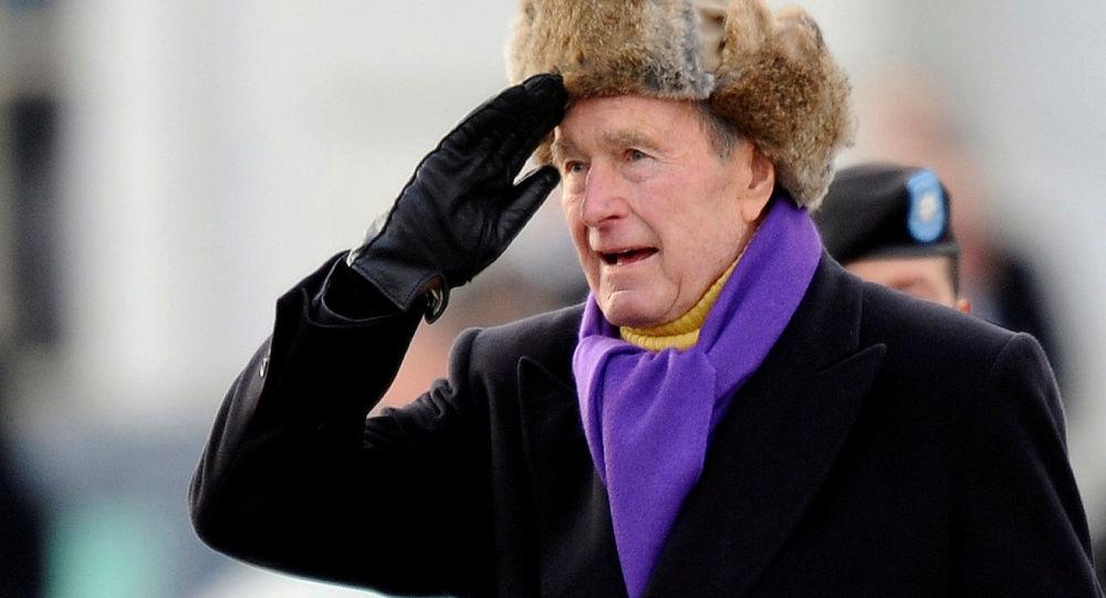ما هي الكلمات الأخيرة لجورج بوش الأب؟