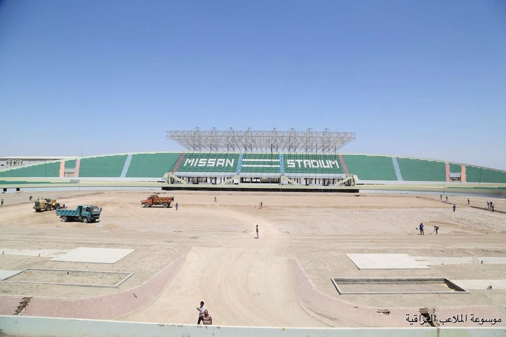 إستئناف العمل بملعب ميسان الاولمبي لإفتتاحه في آيار المقبل